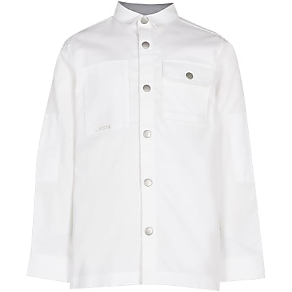 Age 13+ boys white pocket shirt