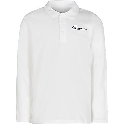 Age 13+ boys white River polo shirt