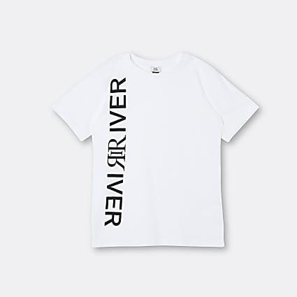 Age 13+ boys white 'River' t-shirt