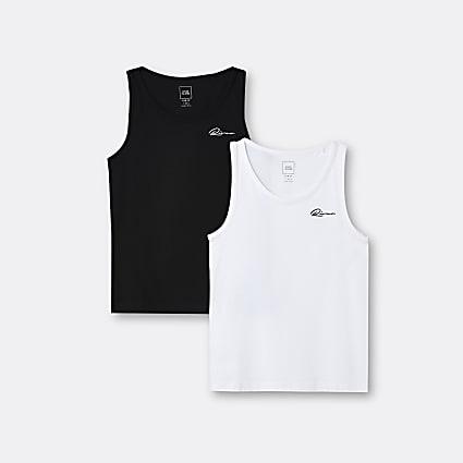 Age 13+ boys white River vests 2 pack