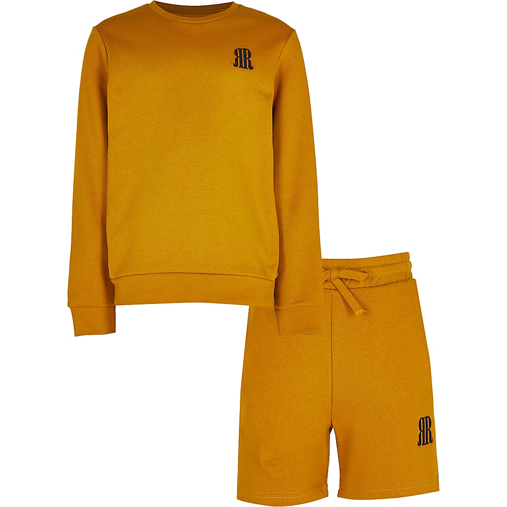 Age 13+ boys yellow RR sweatshirt outfit