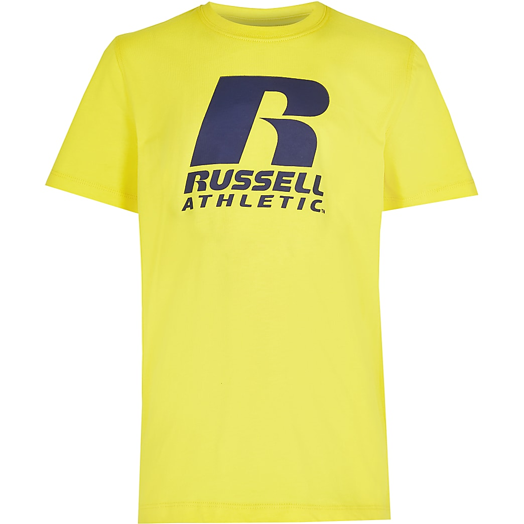 Age 13+ boys yellow Russel Athletic t-shirt