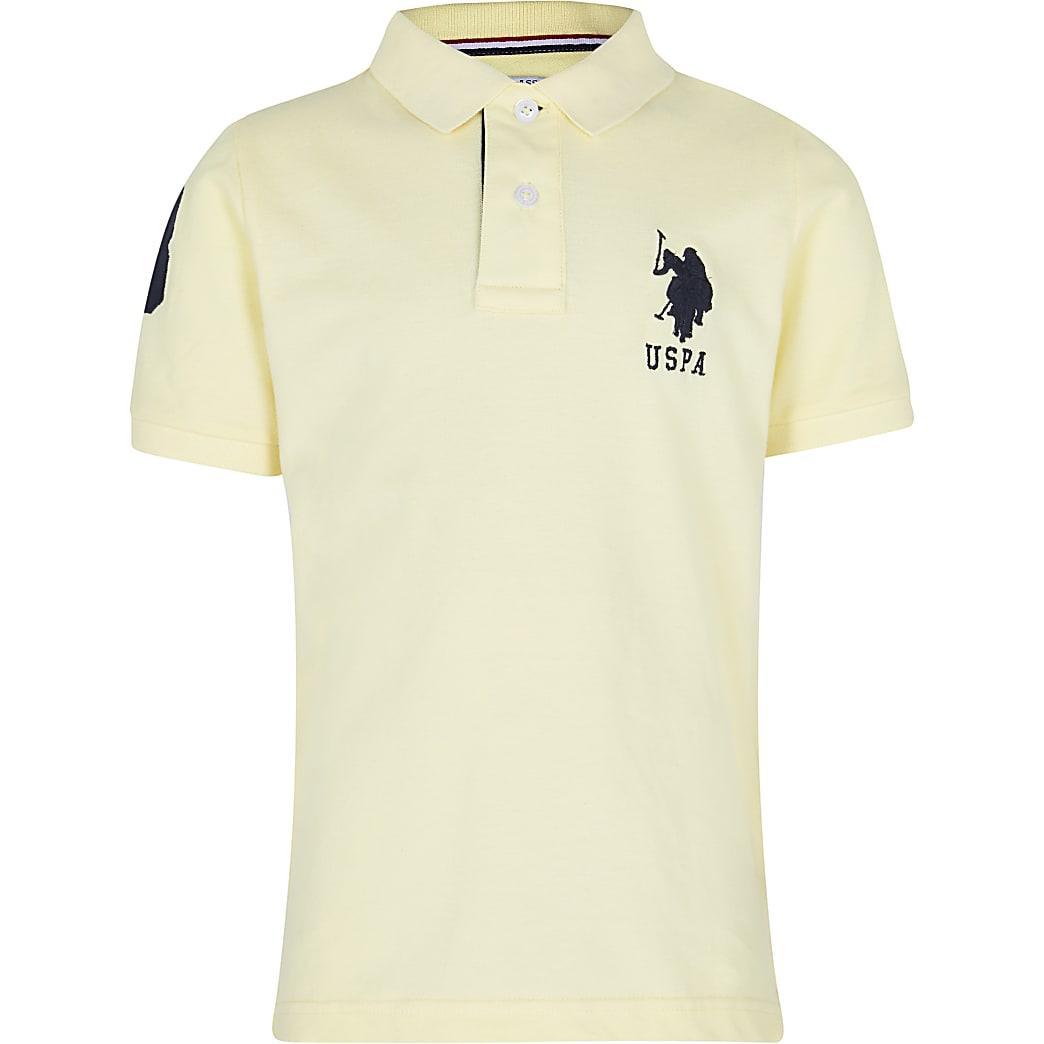 Age 13+ boys yellow USPA polo shirt
