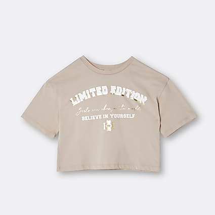 Age 13+ girls beige 'Limited Edition' t-shirt