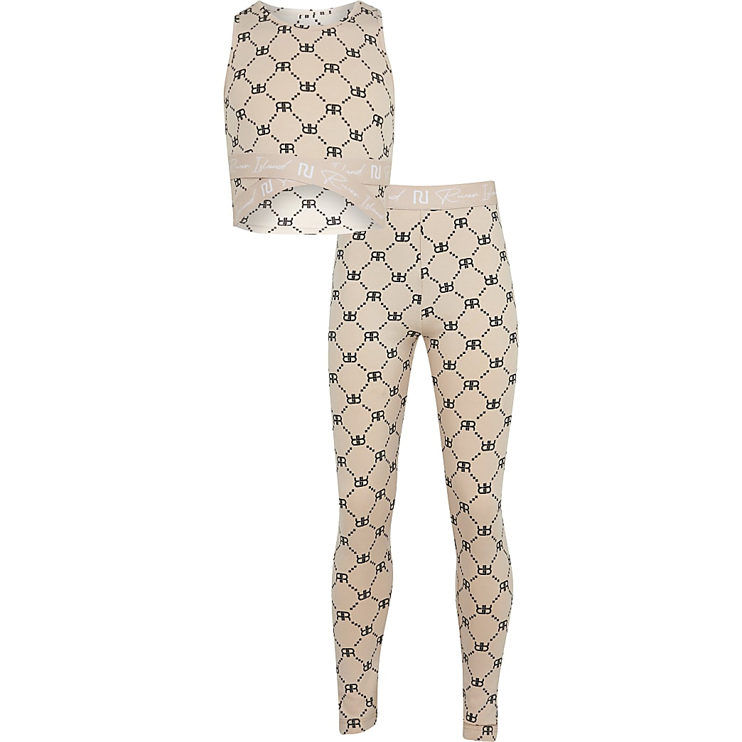 Age 13+ girls beige RIR leggings outfit