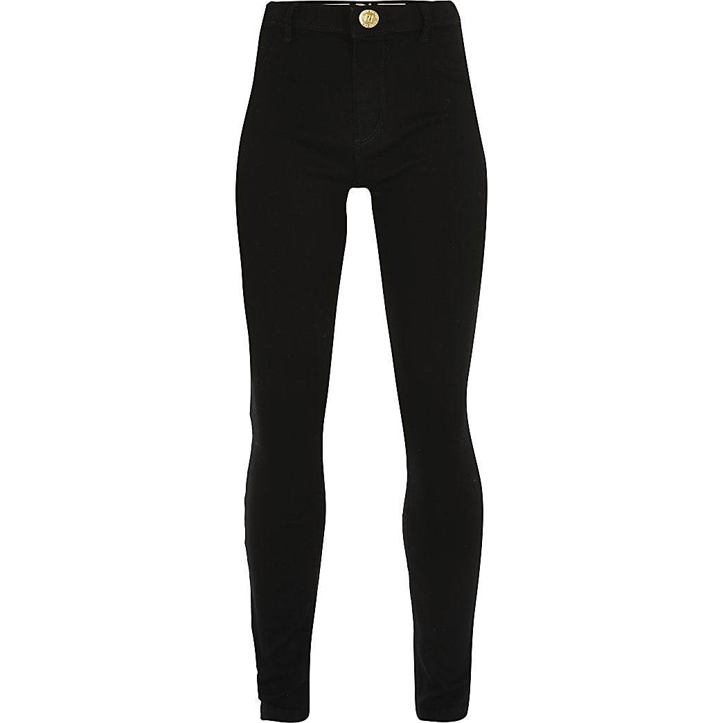 Age 13+ girls black Molly mid rise jeggings