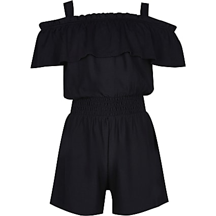 Age 13+ girls black playsuit