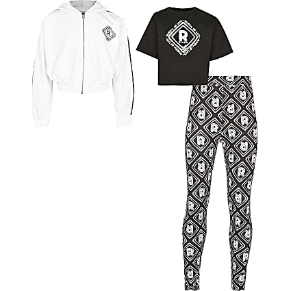 Age 13+ girls black 'Queen of sass' 3 outfit