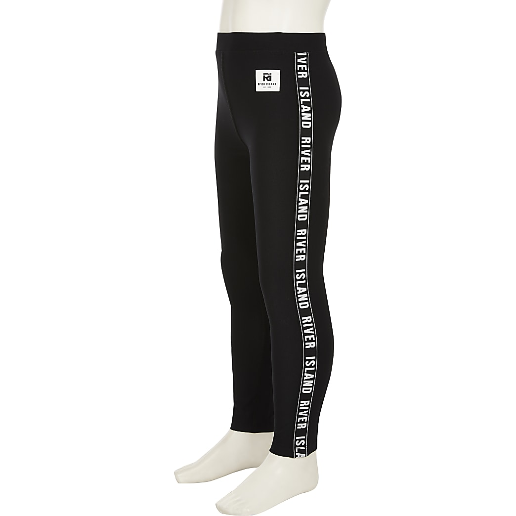 Age 13+ girls black RI active leggings