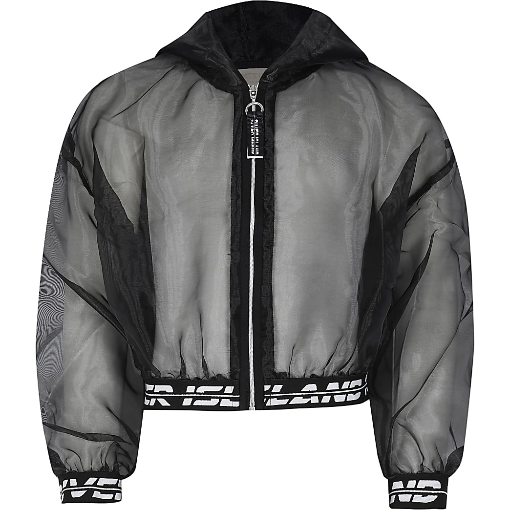Age 13+ girls black RI Active organza bomber