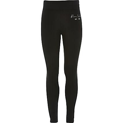 Age 13+ girls black RI leggings
