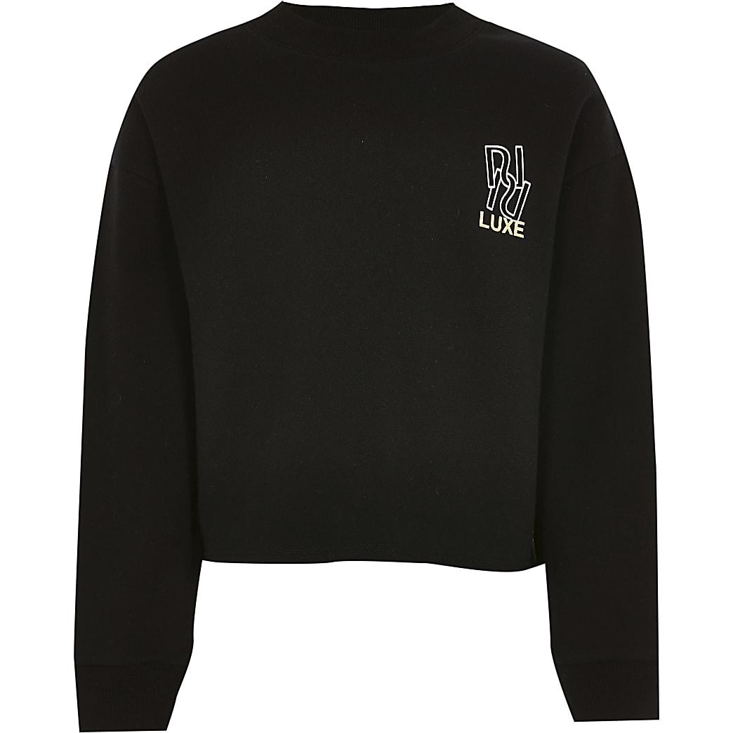 Age 13+ girls black RI luxe sweatshirt