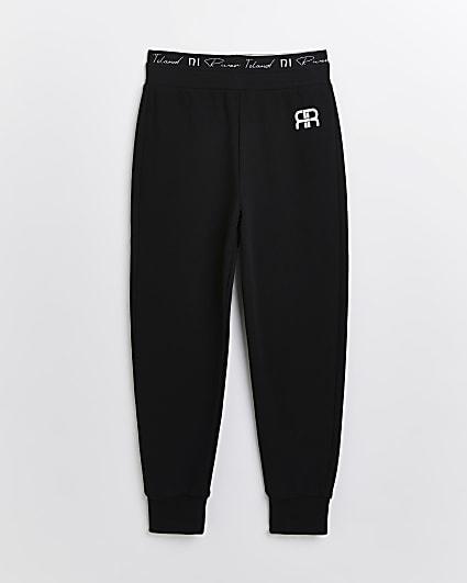 Age 13+ girls black RI waistband joggers