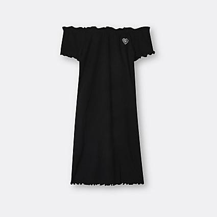 Age 13+ girls black RIR bardot dress