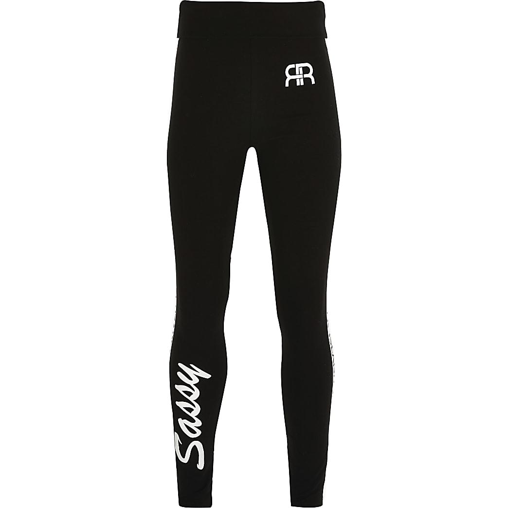 Age 13+ girls black 'Sassy' leggings