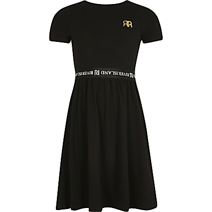 Age 13+ girls black skater dress
