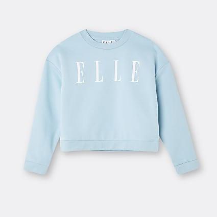 Age 13+ girls blue ELLE long sleeve top