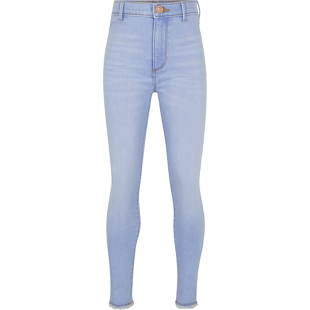 Age 13+ girls blue high rise jeggings