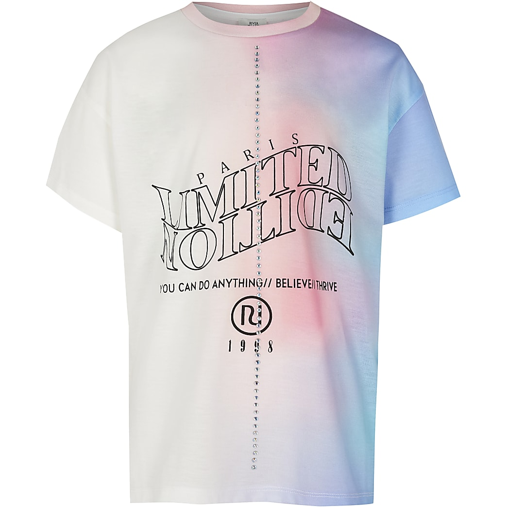 Age 13+ girls blue 'Limited Edition' t-shirt