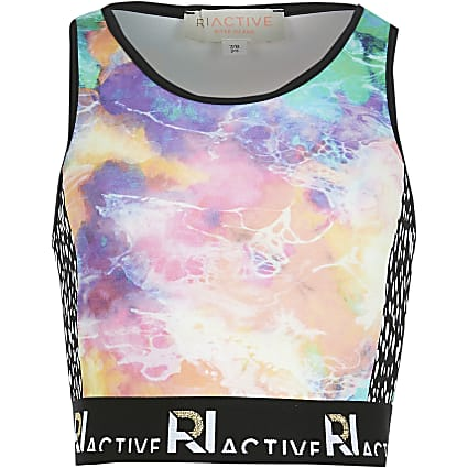 Age 13+ girls blue RI Active crop top