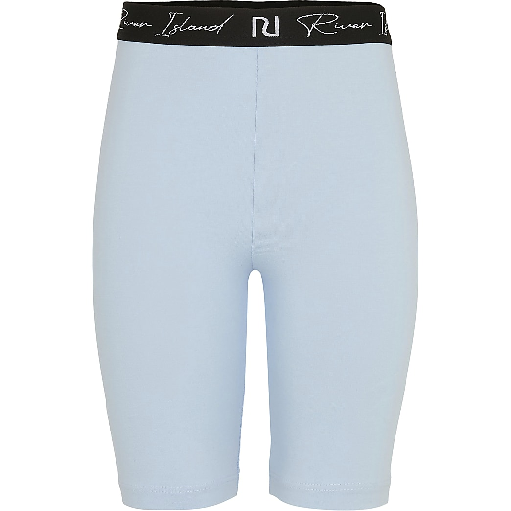 Age 13+ girls blue RI cycling shorts