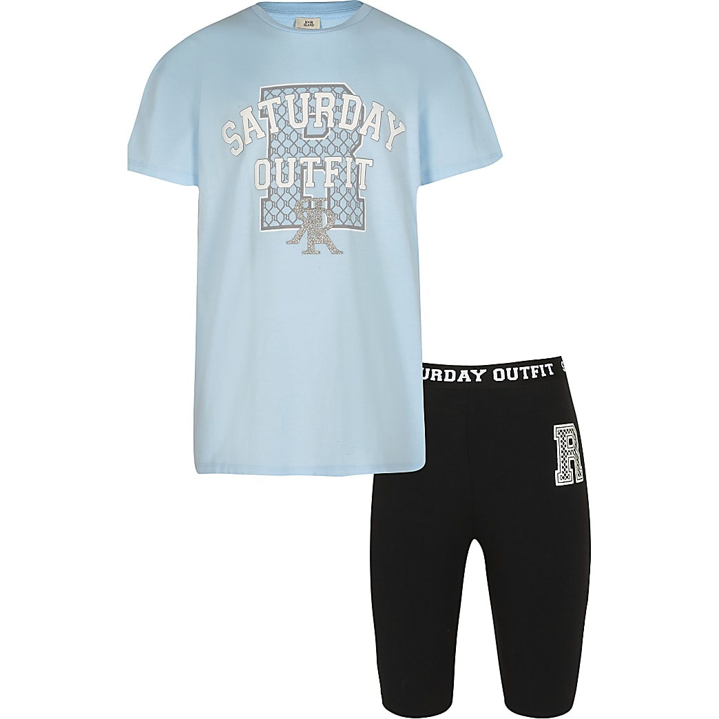 Age 13+ girls blue 'Saturday Outfit' set