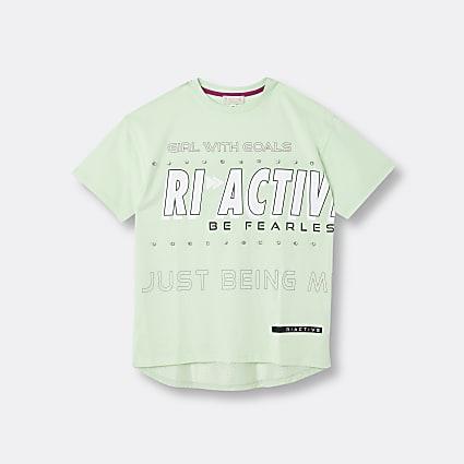 Age 13+ girls green RI Active t-shirt