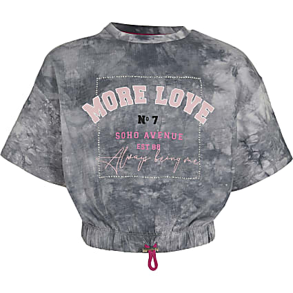 Age 13+ girls grey 'More Love' t-shirt