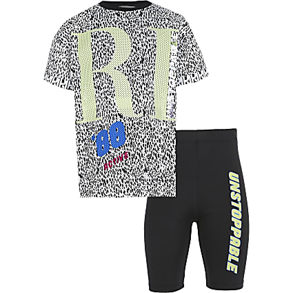 Age 13+ girls grey RI active 2 piece set
