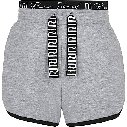 Age 13+ girls grey RI runner shorts