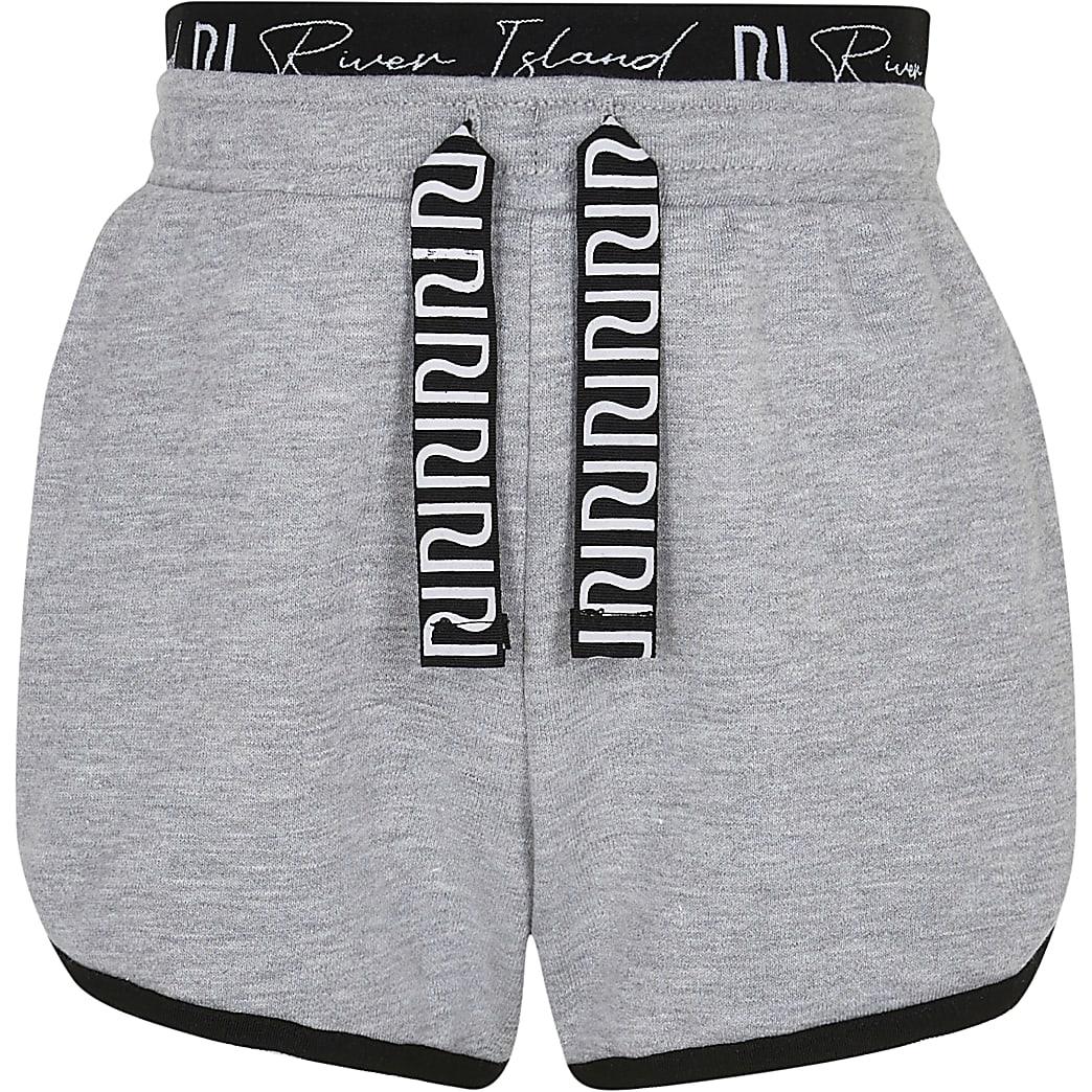 Age 13+ girls grey RI runner shorts