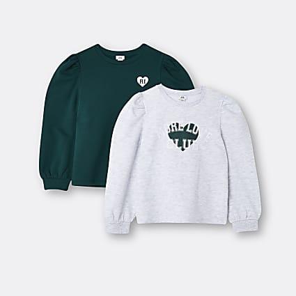 Age 13+ girls grey RI sweatshirts 2 pack