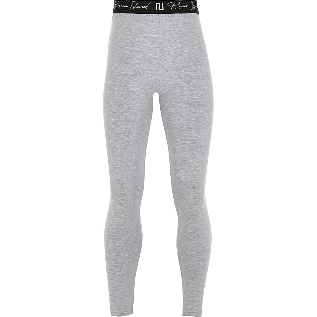 Age 13+ girls grey RI waistband leggings