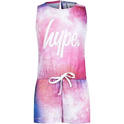 Age 13+ girls Hype pink cosmic playsuit