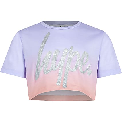 Age 13+ girls Hype purple ombre top