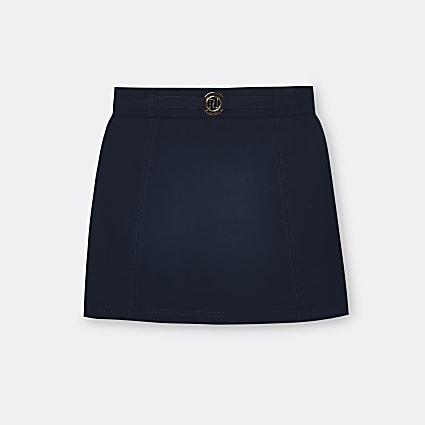 Age 13+ girls navy ponte skirt