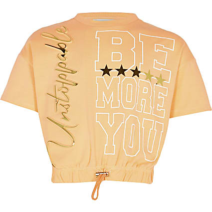 Age 13+ girls orange RI Active t-shirt