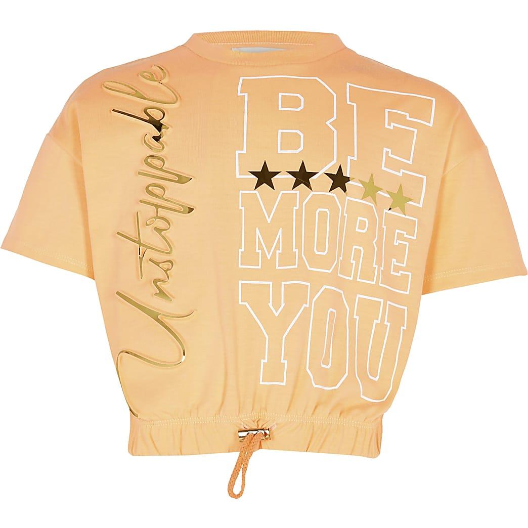 Age 13+ girls orange RI Active t-shirt