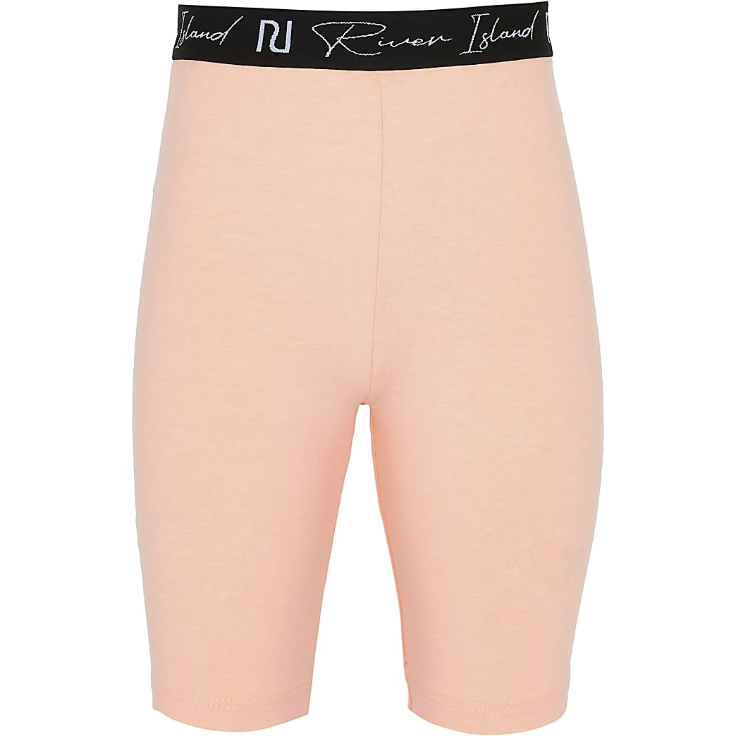 Age 13+ girls orange RI cycling shorts