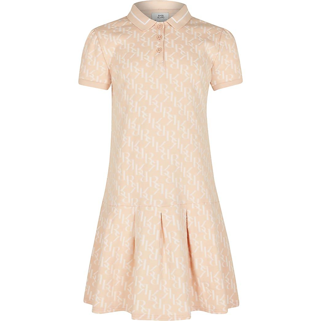 Age 13+ girls orange RR collared dress