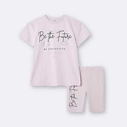 Age 13+ girls pink 'Be The Future' set