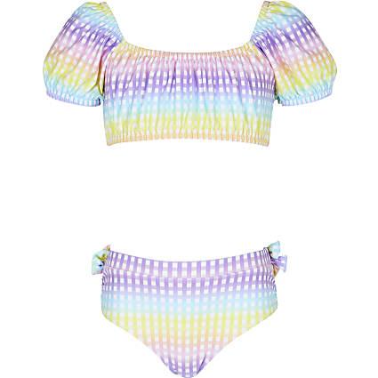 Age 13+ girls pink gingham bikini set