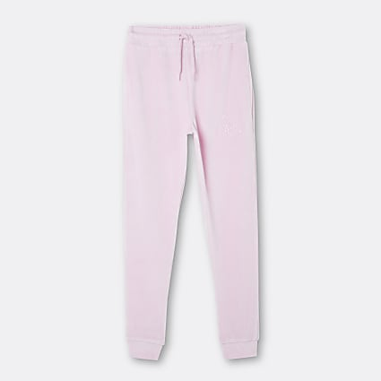 Age 13+ girls pink Hype velour joggers