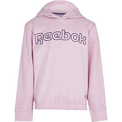 Age 13+ girls pink Reebok hoodie
