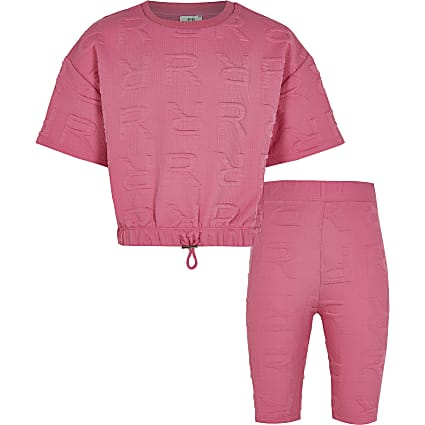 Age 13+ girls pink RI cycling shorts outfit