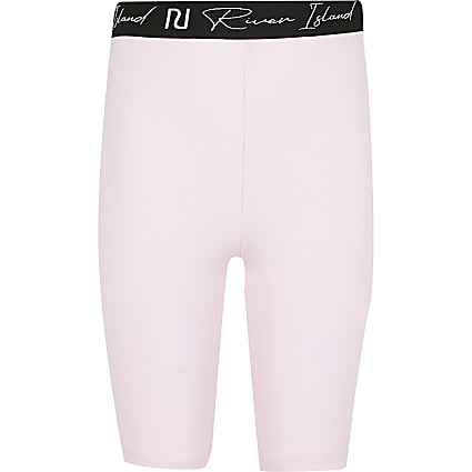 Age 13+ girls pink RI cycling shorts