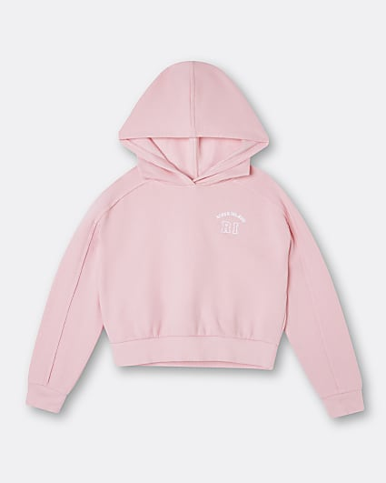 Age 13+ girls pink RI hoodie