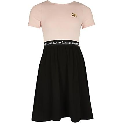 Age 13+ girls pink RI skater dress