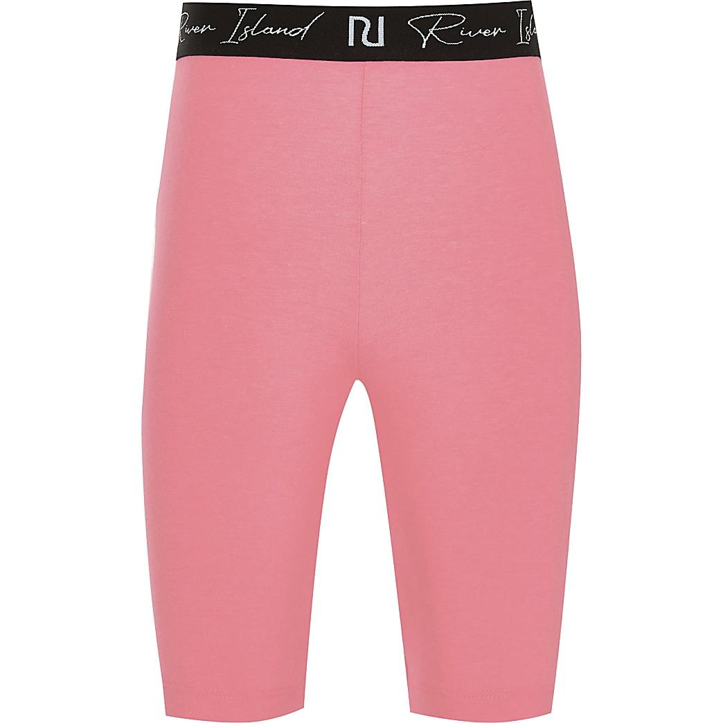 Age 13+ girls pink RI waistband cycling short