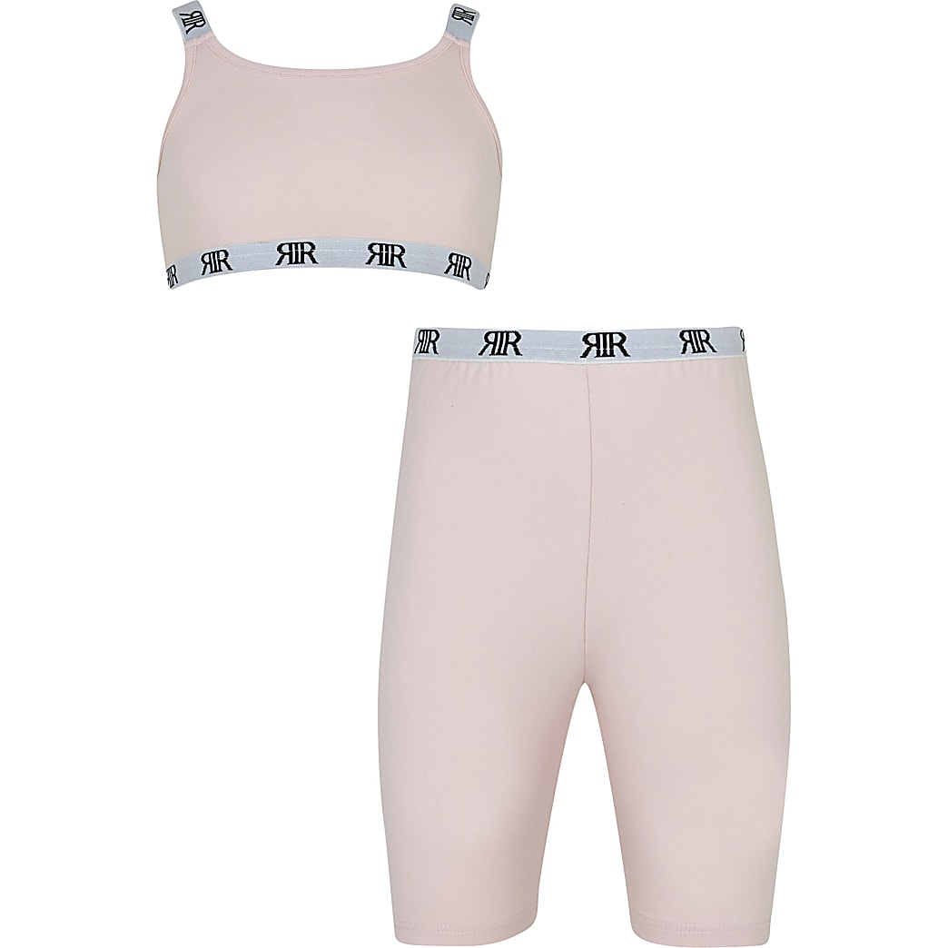Age 13+ girls pink RIR cycling shorts outfit